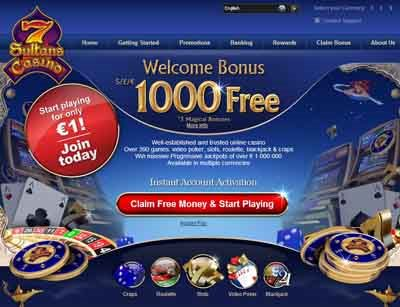 Find out How to get 1000 Free from the 7 Sultans Casino Website